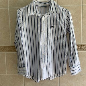 Old Navy striped button up shirt